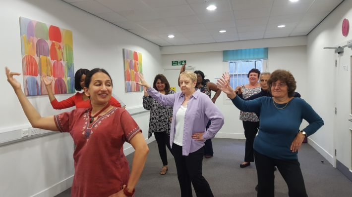 carers dancing at the centre