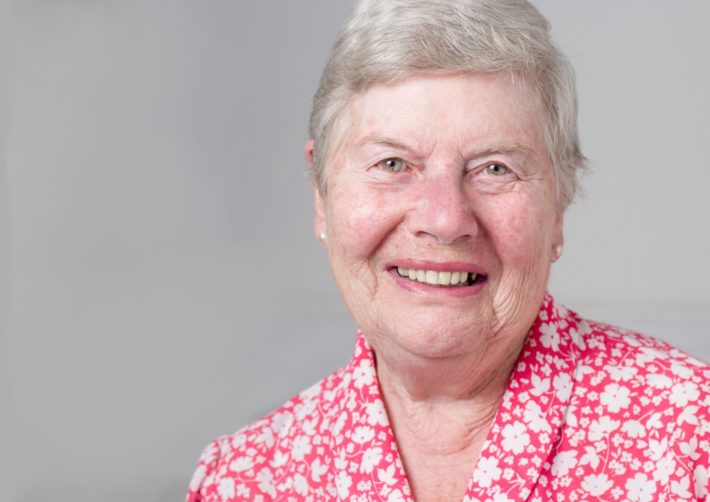 Photo of older white woman smiling