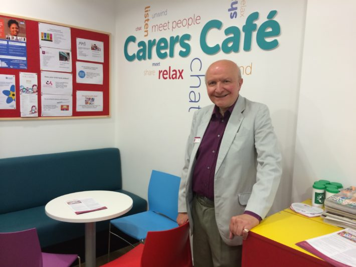 carer in cafe