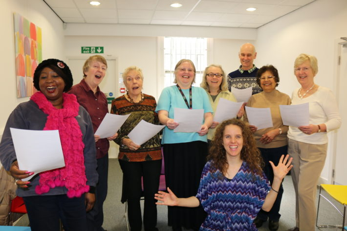 Carers Singing Group practising at the Carers Support Centre