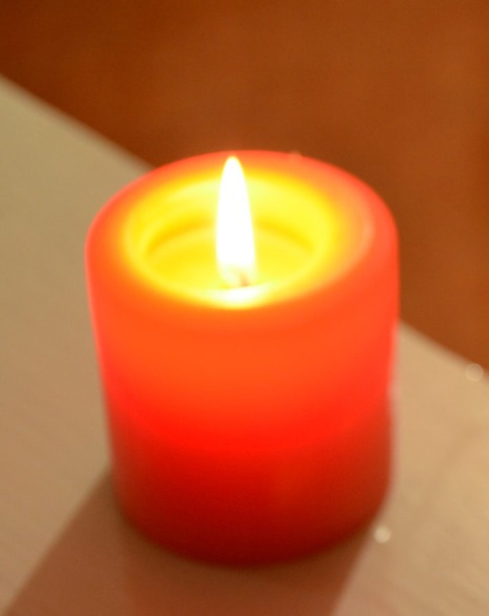 lit orange candle