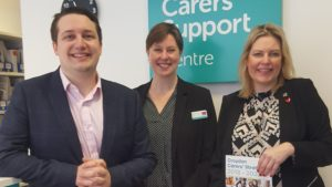 Charities minister supports action on carer loneliness at the Carers Support Centre