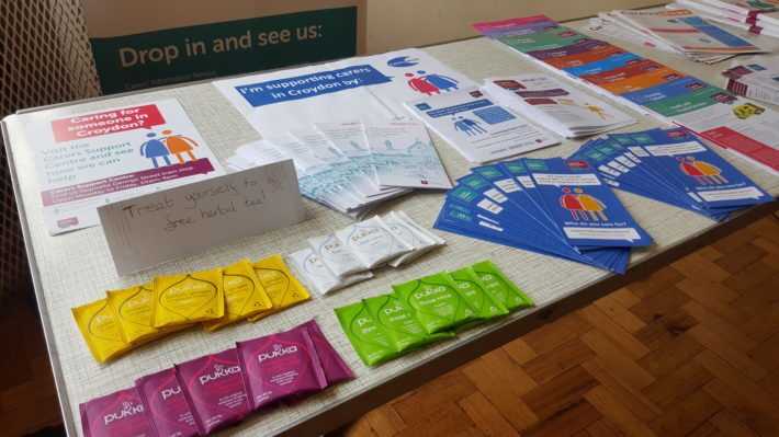 Leaflets on a table